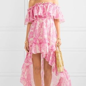 LoveShackFancy Alexia Dress in Pink Gem